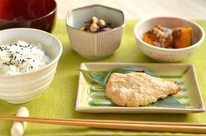 朝食西京焼き