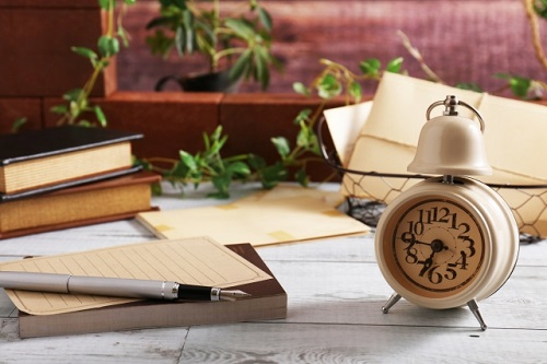 手紙と時計
