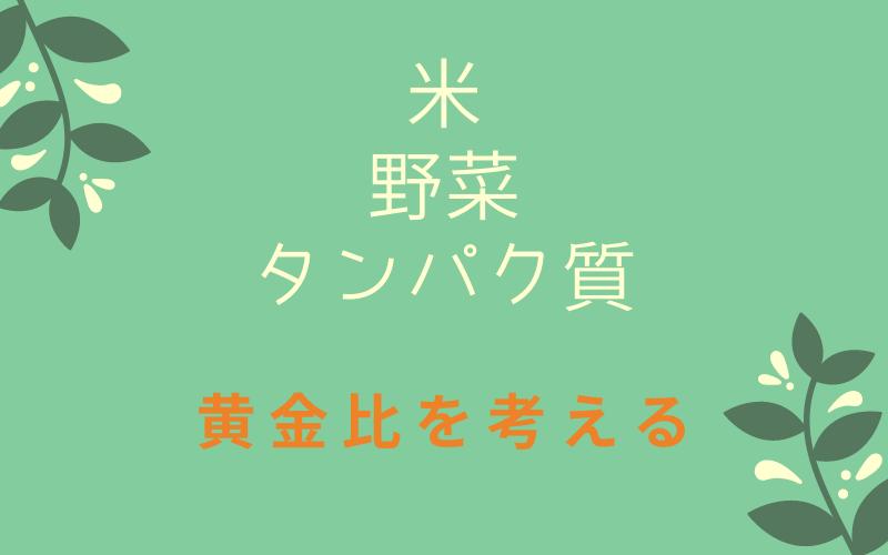 米野菜タンパク質